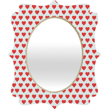 Allyson Johnson Hey Sweetheart Quatrefoil Mirror