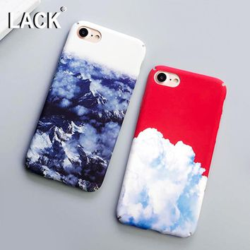 LACK Hard Case For iphone 6 Case Beauty Snow Mountain Pattern Cover Cartoon Capa White Clouds Phone Cases For iphone 6S 6 Plus