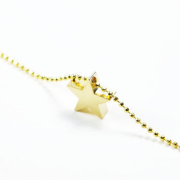 Golden Star Charm Necklace, Fashion, Gift, Wedding, Summer Trends