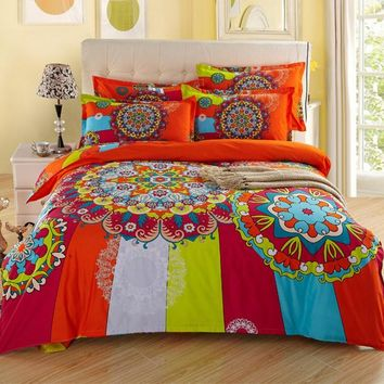 Mandala Hot 3D Bedding Set Duvets Cover Printed bedsheet Pillowcase 4pcs bedspread king size cotton double bed linen Best Gift