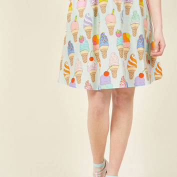 Fro-Yo Information Midi Skirt