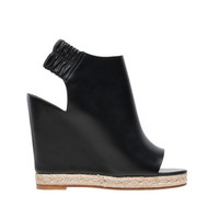 Balenciaga Rope Open Toe Wedge Sandals Black - Women's Rope Shoes