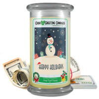 Happy Holidays | Holiday Cash Greeting Candle