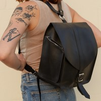 Hunter Leather Structured Backpack