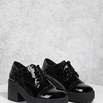 Patent Oxford Platform Shoes