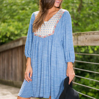 Sun Daze Dress, Sky Blue