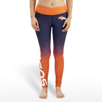 Denver Broncos Womens Gradient Official NFL Print Leggings