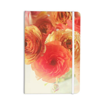 "Debbra Obertanec ""Coral Ranunculus"" Pink Floral Everything Notebook"