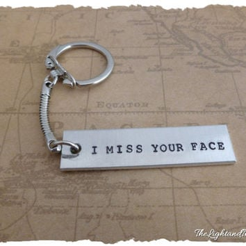 Long Distance Keychain - I miss your face