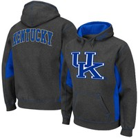 Kentucky Wildcats Turf Fleece Pullover Hoodie - Charcoal/Royal Blue