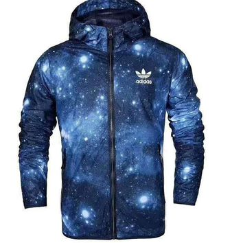 """NIKE"" Women/men Starry Sky Hooded Sweatshirt Cardigan Jacket Coat Windbreaker G-MLDWX"