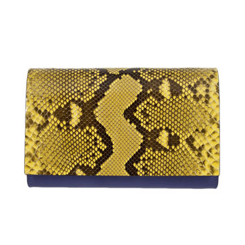 Handmade Python Leather Clutch -- SOLD OUT