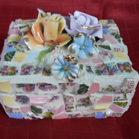 Cottage Chic Mosaic Jewelry Box
