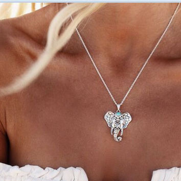 Jewelry Stylish Gift New Arrival Shiny Accessory Vintage Silver Lucky Necklace [7316488839]
