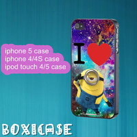 Despicable Me Minion,Nebula,Minion--iphone 4 case,iphone 5 case,ipod touch 4 case,ipod touch 5 case,cute iphone 4 case,cute iphone 5 case.