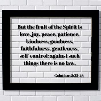 Galatians 5:22-23 - But the fruit of the Spirit is love, joy, peace, patience, kindness, goodness