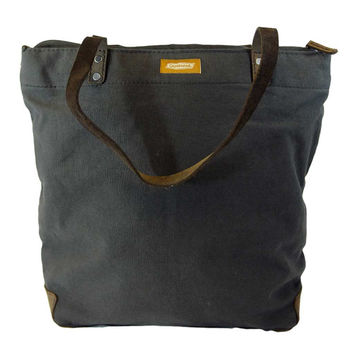 DAY TOTE ZIP | Charcoal Canvas