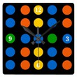 Wall Clock with Colorful Dots