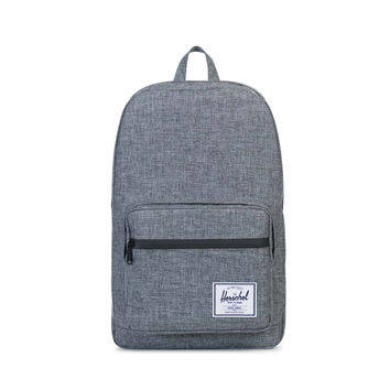 HERSCHEL SUPPLY CO POP QUIZ BACKPACK IN RAVEN CROSSHATCH