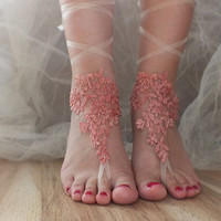 black, Beach wedding barefoot sandals