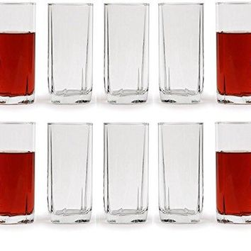 Circleware Highland Highball Tumbler Drinking Glasses Set of 4 16 ounce Kitchen Glassware for Water Juice Ice Tea Beer Wine amp Best Bar Barrel Liquor Dining Deacutecor Gifts