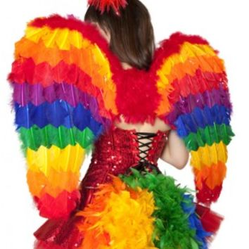 Rainbow Wings Costume Accessory @ Amiclubwear costume Online Store,sexy costume,women's costume,christmas costumes,adult christmas costumes,santa claus costumes,fancy dress costumes,halloween costumes,halloween costume ideas,pirate costume,dance costume,