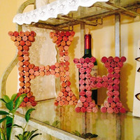 "8"" or 12"" Wine Cork Letter H"