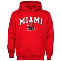 Miami University RedHawks Arch Over Logo Hoodie – Red