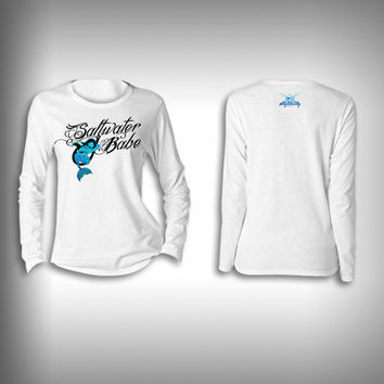 Saltwater Babe Mermaid - Womens Performance Shirt - Fishing Shirt