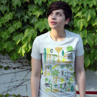 Botany T-shirt Vintage Plant Graphic Tee