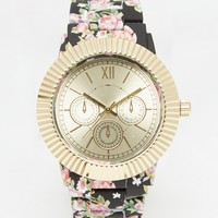 New Look Floral Painted Strap Watch