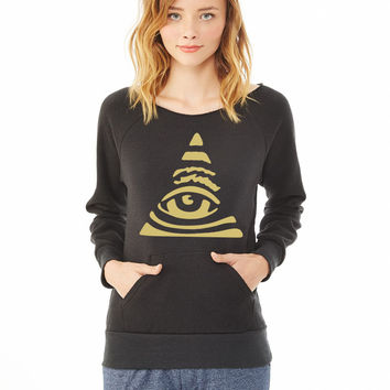 all seen eye ladies sweatshirt