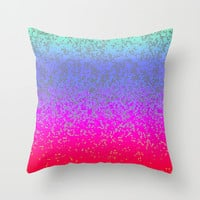 Glitter Star Dust G244 Throw Pillow by MedusArt