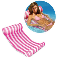 3 Color Stripe Outdoor Floating Sleeping Bed Water Hammock Lounger Chair Float Inflatable Air Mattress Swimming Pool Accessories