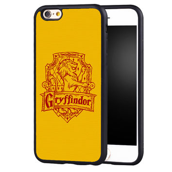 Harry Potter Gryffindor Printed Soft TPU Skin Mobile Phone Cases OEM For iPhone 6 6S Plus 7 7 Plus 5 5S 5C SE 4 4S Back Cover