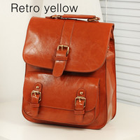 Retro PU Leather Backpack for School 8185B2