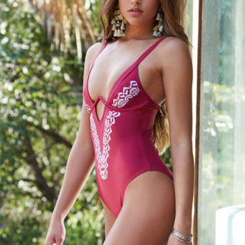 MinkPink Mandala Embroidered One Piece Swimsuit at PacSun.com