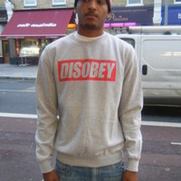 Lo Key — Disobey Text Sweatshirt
