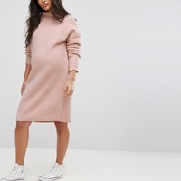 ASOS MATERNITY Knitted Sweater Dress in Texture Stitch at asos.com