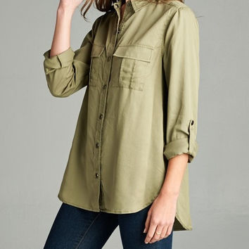 Solid Tencel Shirt