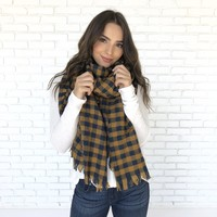 At Dusk Plaid Scarf