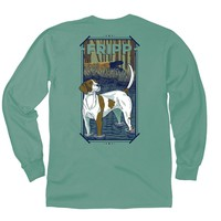 Dog in Water Long Sleeve T-Shirt in Light Green by Fripp Outdoors