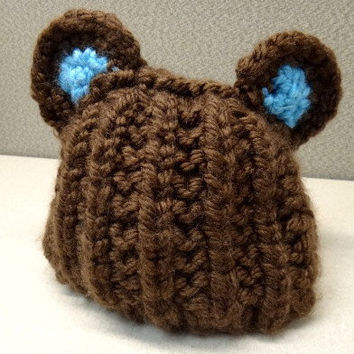 Teddy Bear Hat  Made to Order by ConchoPurl on Etsy