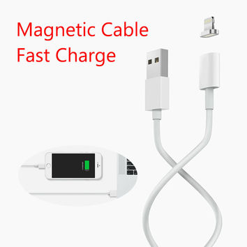 Maxium 2.4A Charging Magnetic Cable For iPhone 5 5s 5c SE 6 6s 7 Plus iPad mini Mobile Phone Magnet Charger Micro USB Data Cable
