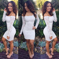 Stylish Ladies Women Sexy Sleeveless Off-shoulder Package Hip Bodycon Lace Slim Pencil Dress W_C = 5738904449