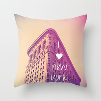 New York Throw Pillow by Deb Schmill