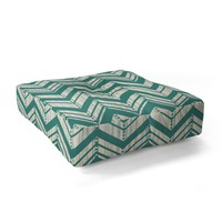 Heather Dutton Weathered Chevron Floor Pillow Square