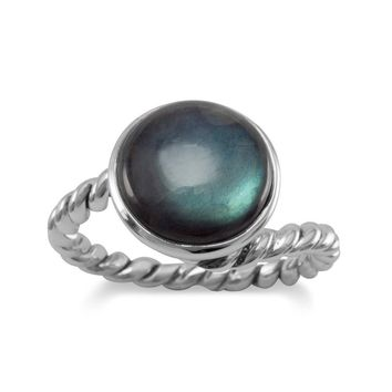 Labradorite Ring with Twist Band