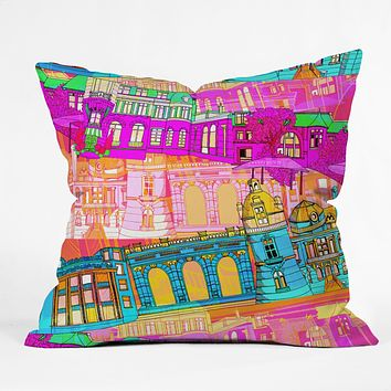 Aimee St Hill City Scape Throw Pillow