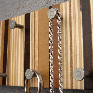 Wood Jewelry Organizer Necklace Hanger Jewelry Display Rack from Recycled Wood